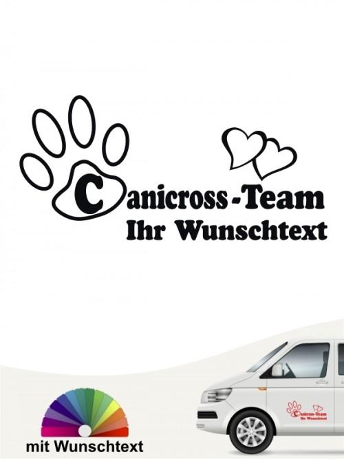 Canicross Sticker mit Wunschtext von anfalas.de
