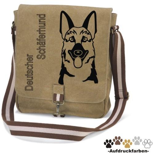 """Canvas-Tasche """"Deutscher Schäferhund Comic"""""""
