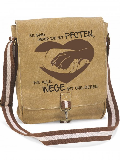 """Canvas-Tasche """"Die mit Pfoten 2"""" von anfalas.de"""