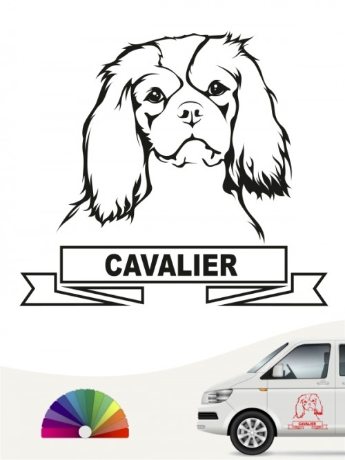 Hunde-Autoaufkleber Cavalier King Charles Spaniel 15 von Anfalas.de
