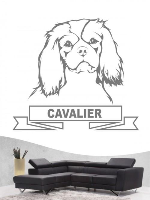 Hunde-Wandtattoo Cavalier King Charles Spaniel 15 von Anfalas.de