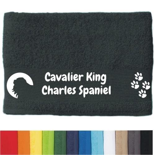 """DOG - Handtuch """"Cavalier King Charles Spaniel"""" von anfalas.de"""