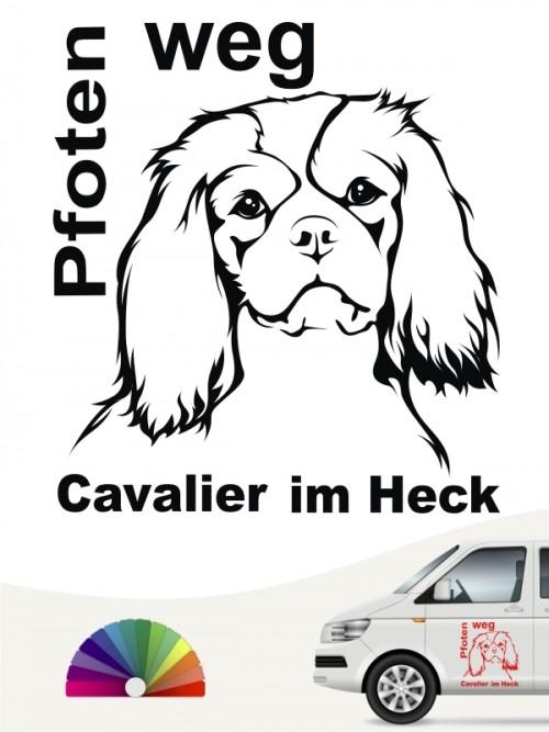 Cavalier Pfoten weg Autosticker anfalas.de