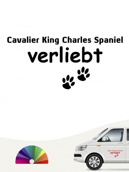 Hunde-Autoaufkleber Cavalier King Charles Spaniel verliebt von Anfalas.de