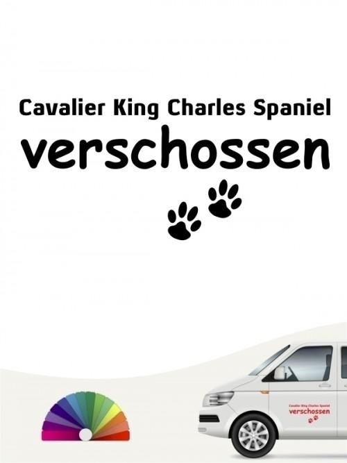 Hunde-Autoaufkleber Cavalier King Charles Spaniel verschossen von Anfalas.de