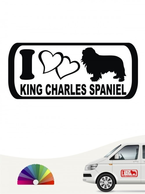 I Love King Charles Spaniel Heckscheibenaufkleber anfalas.de
