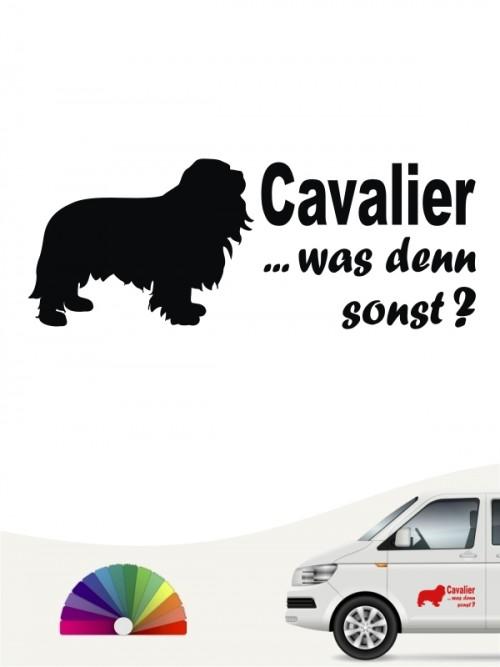 Cavalier was denn sonst Heckscheibenaufkleber