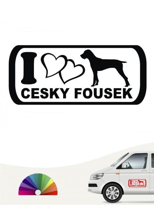I Love Cesky Fousek Autosticker anfalas.de
