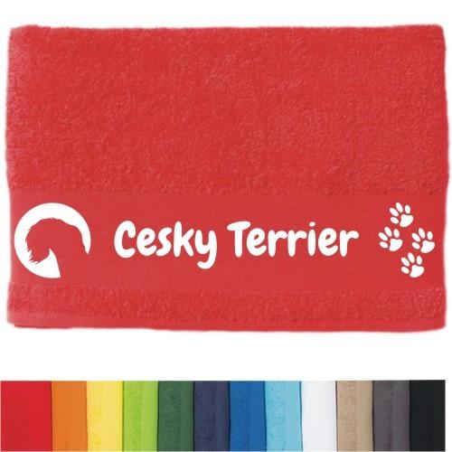 """DOG - Handtuch """"Chesky Terrier"""" von anfalas.de"""