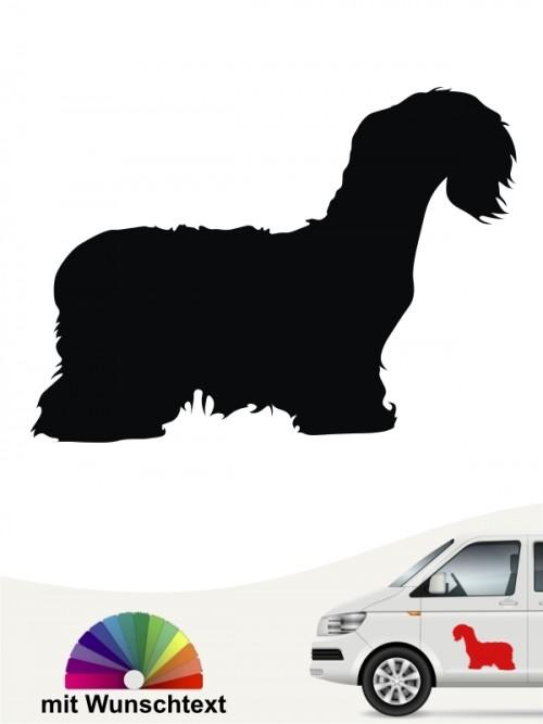 Cesky Terrier Silhouette mit Wunschtext anfalas.de