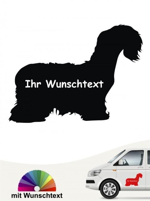 Cesky Terrier Aufkleber mit Wunschname anfalas.de