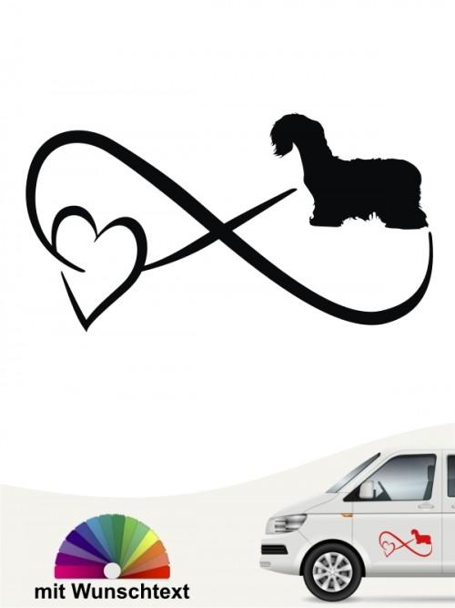 Cesky Terrier Autoaufkleber mit Wunschtext von anfalas.de