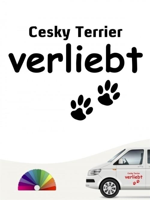 Hunde-Autoaufkleber Cesky Terrier verliebt von Anfalas.de