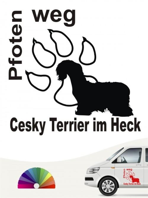 Pfoten weg Cesky Terrier im Heck Sticker anfalas.de