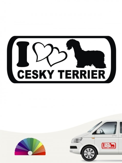 I Love Cesky Terrier Hundeaufkleber anfalas.de