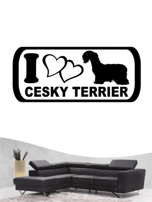Cesky Terrier 6 - Wandtattoo