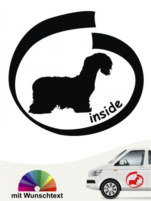 Cesky Terrier inside Autosticker mit Wunschname anfalas.de