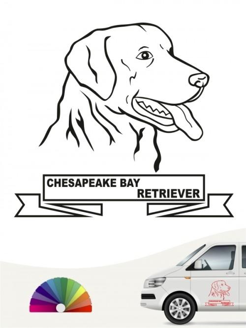 Hunde-Autoaufkleber Chesapeake Bay Retriever 16 von Anfalas.de