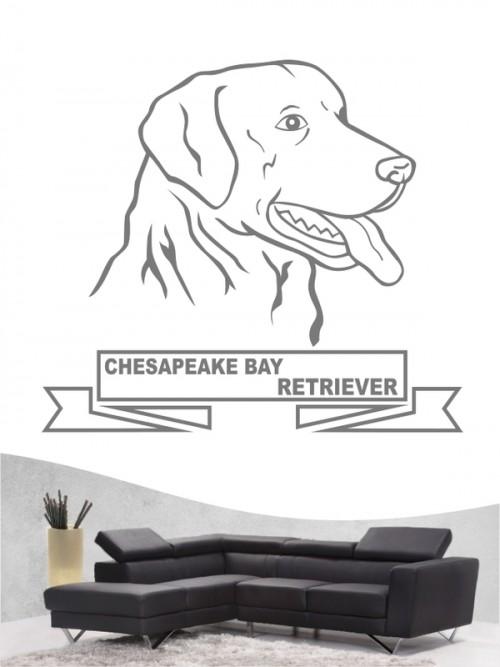 Hunde-Wandtattoo Chsapeake Bay Retriever 16 von Anfalas.de