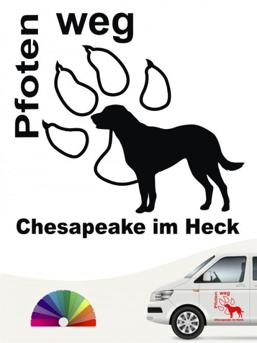 Chesapeake Pfoten weg Hundeaufkleber anfalas.de