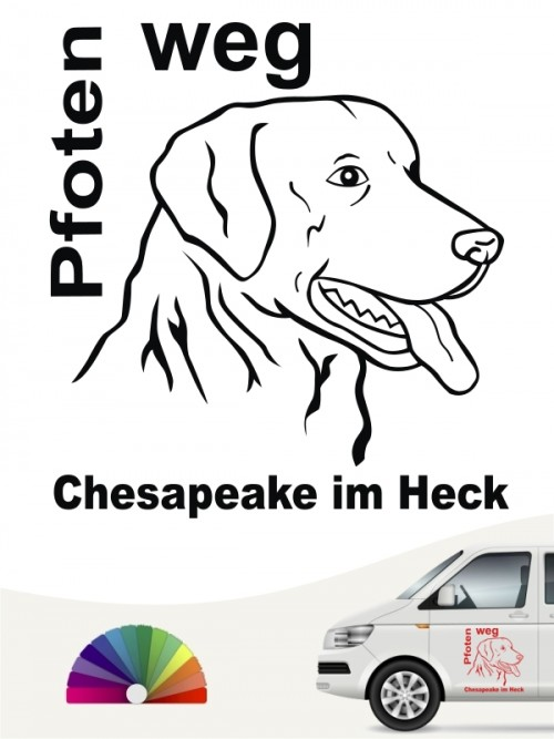 Pfoten weg Chesapeake im Heck Autoaufkleber anfalas.de