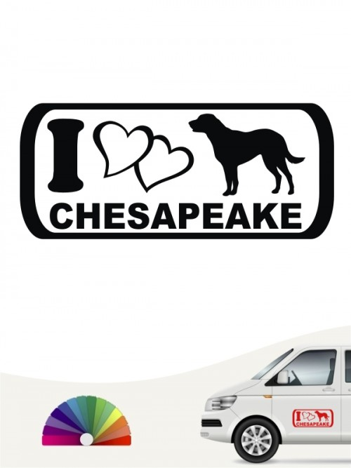 I Love Chesapeake Hundeaufkleber anfalas.de