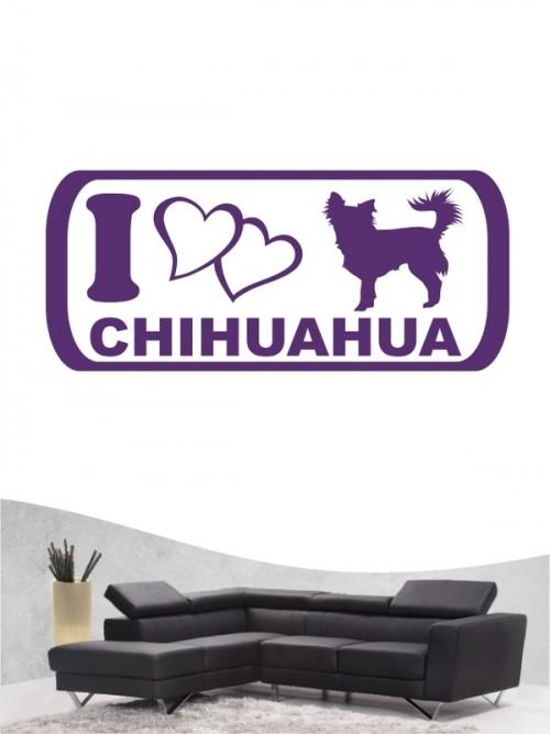 Chihuahua 6 Wandtattoo