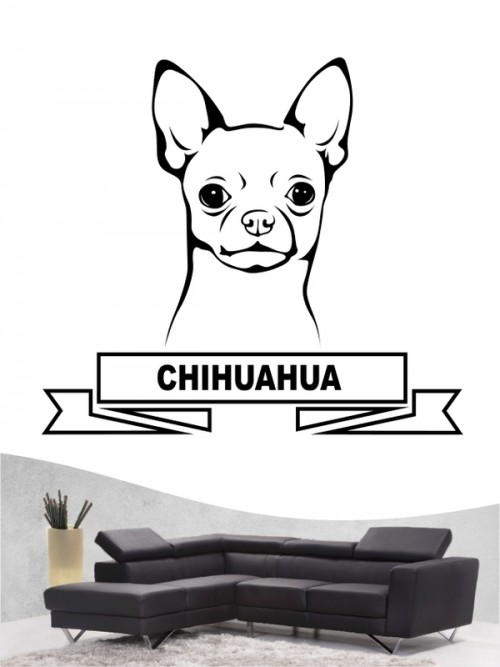 Hunde-Wandtattoo Chihuahua 15 von Anfalas.de