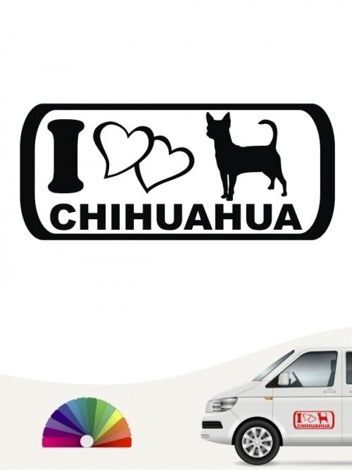 I Love Chihuahua Aufkleber anfalas.de