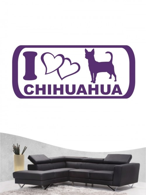 Chihuahua Kurzhaar 6 Wandtattoo