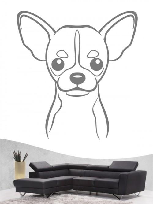 Chihuahua Kurzhaar Comic Wandtattoo