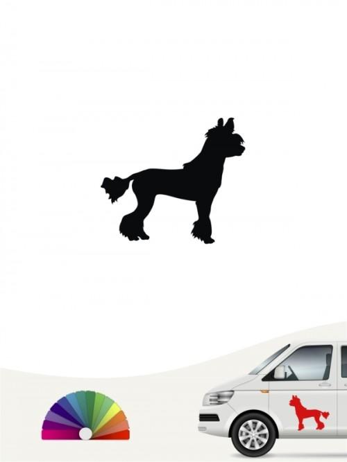 Chinesischer Schopfhund Heckscheibenaufkleber anfalas.de
