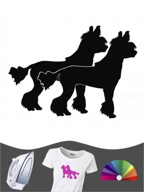 Chinesischer Schopfhund 2 Bügelbild