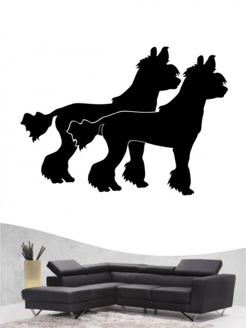 Chinesischer Schopfhund 2 - Wandtattoo