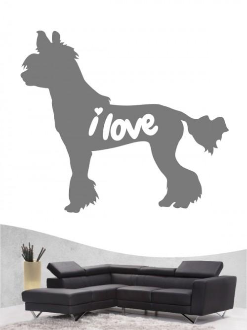Chinesischer Schopfhund 43 - Wandtattoo