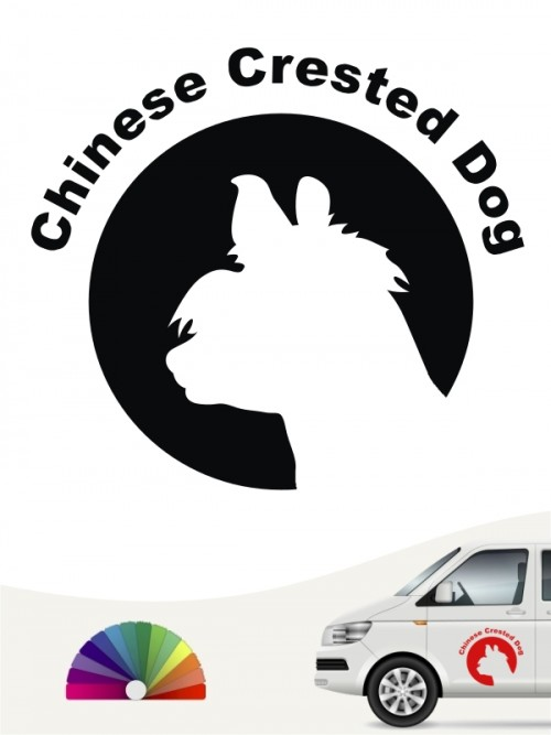 Chinesischer Schopfhund Aufkleber von anfalas.de