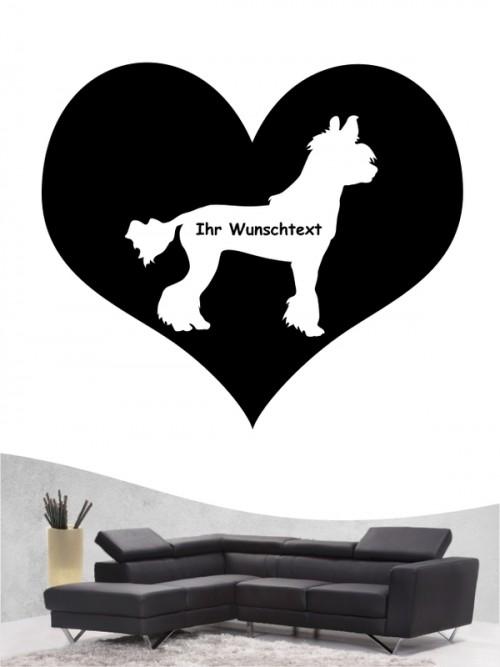 Chinesischer Schopfhund 4 - Wandtattoo
