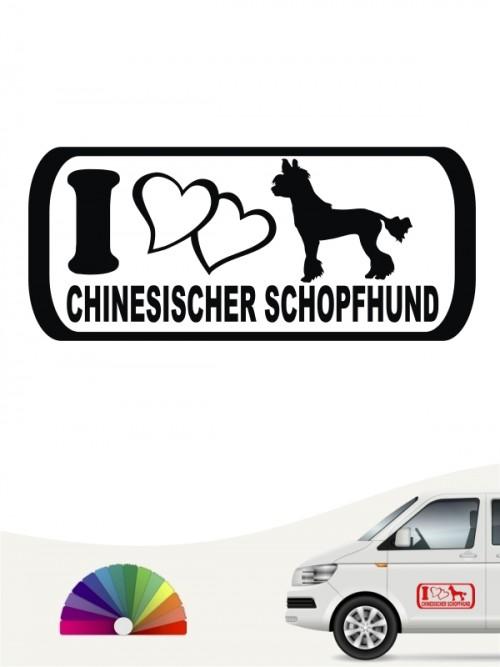 I Love Chinesischer Schopfhund Aufkleber anfalas.de