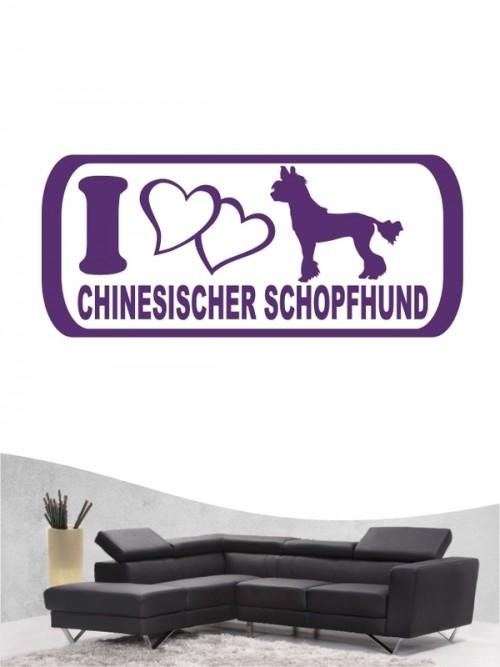 Chinesischer Schopfhund 6 - Wandtattoo