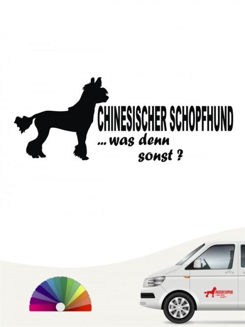 Chinesischer Schopfhund was denn sonst Sticker anfalas.de
