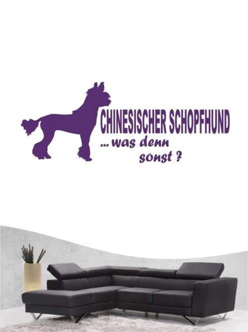 Chinesischer Schopfhund 7 - Wandtattoo