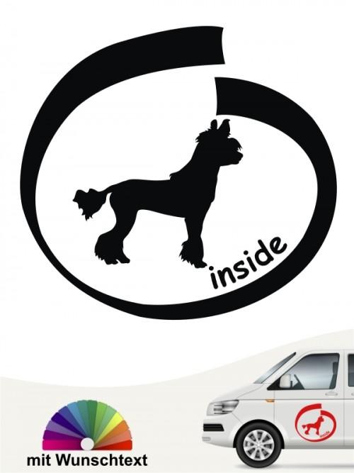 Chinesischer Schopfhund inside Autosticker mit Wunschname anfalas.de