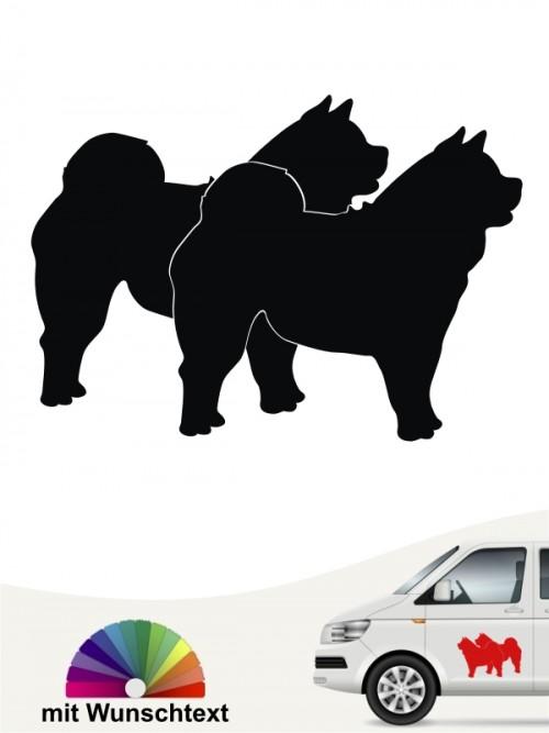 Chow-Chow Hundeaufkleber mit Wunschtext anfalas.de