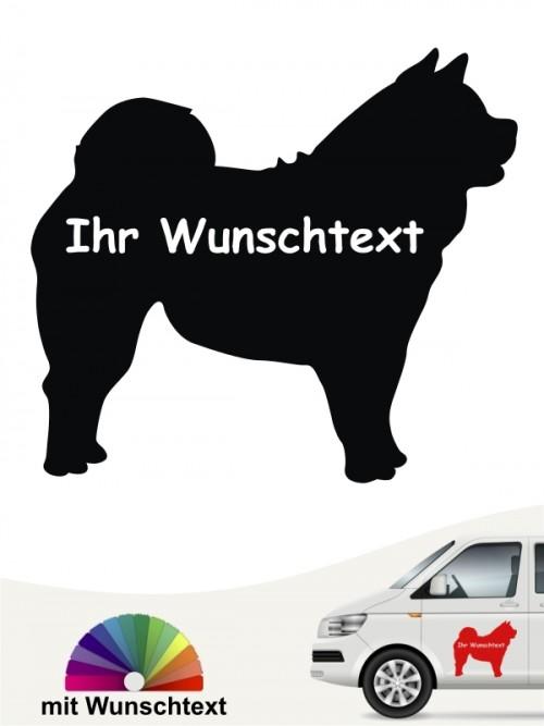 Chow-Chow Silhouette mit Wunschtext Heckscheibenaufkleber anfalas.de