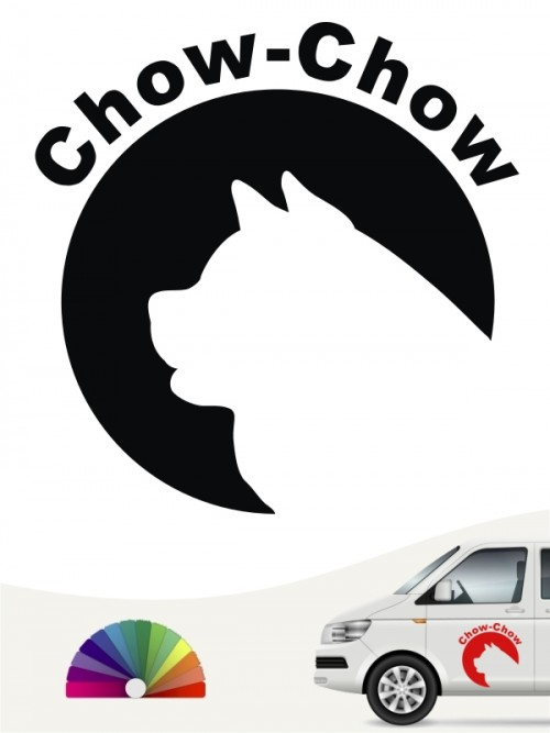 Chow-Chow Aufkleber von anfalas.de