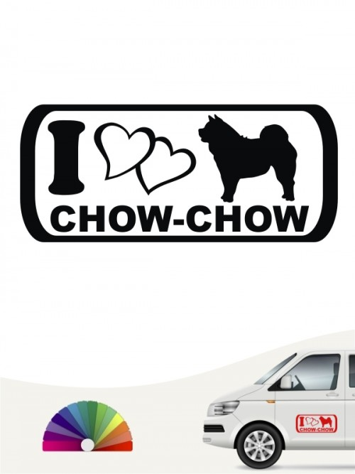I Love Chow-Chow Autoaufkleber anfalas.de