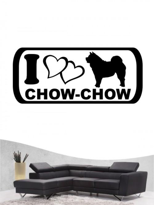 Chow-Chow 6 Wandtattoo