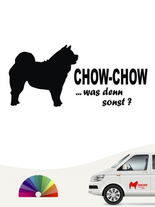 Was denn sonst Chow-Chow Autosticker anfalas.de