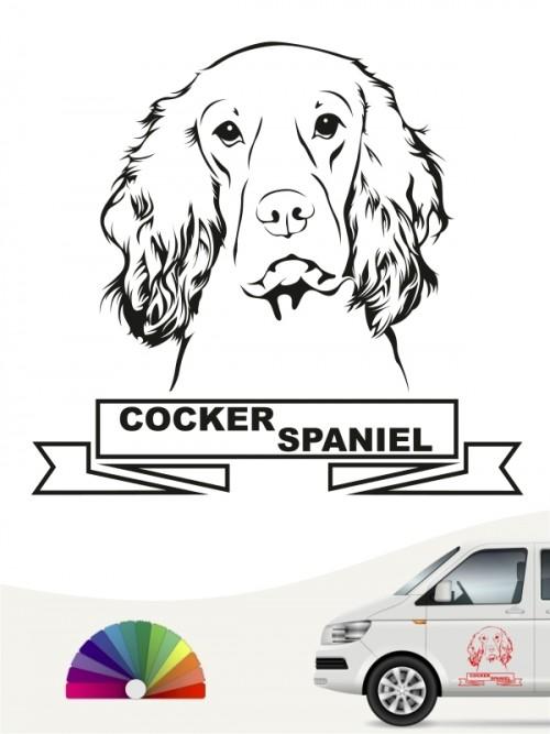 Hunde-Autoaufkleber Cocker Spaniel 15 von Anfalas.de