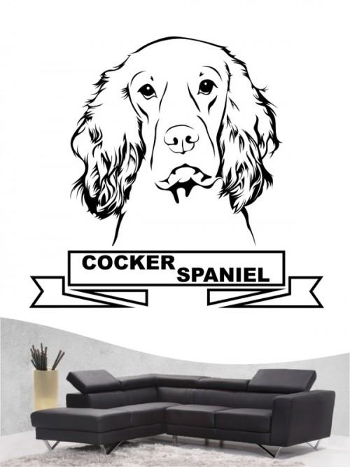 Hunde-Wandtattoo Cocker Spaniel 15 von Anfalas.de